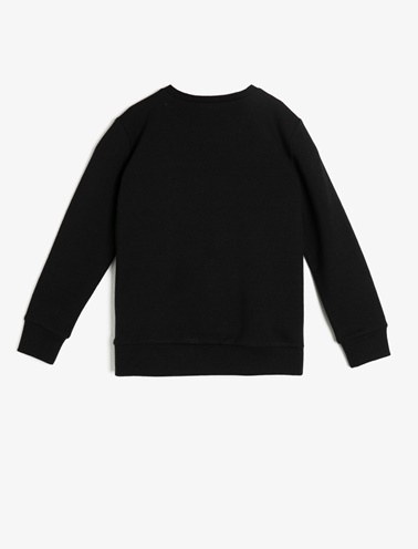 Koton Kids Baskılı Sweatshirt Siyah